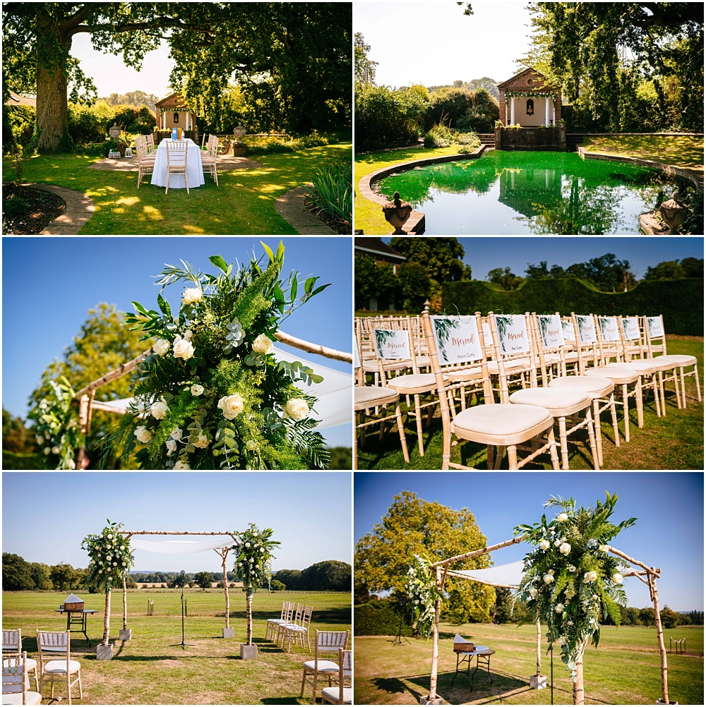 Beautiful micklefield hall set up for jewish wedding