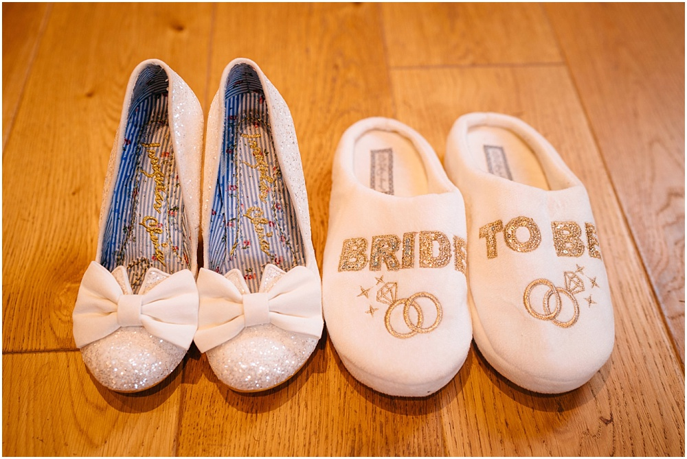 Bride shoes and bride slippers