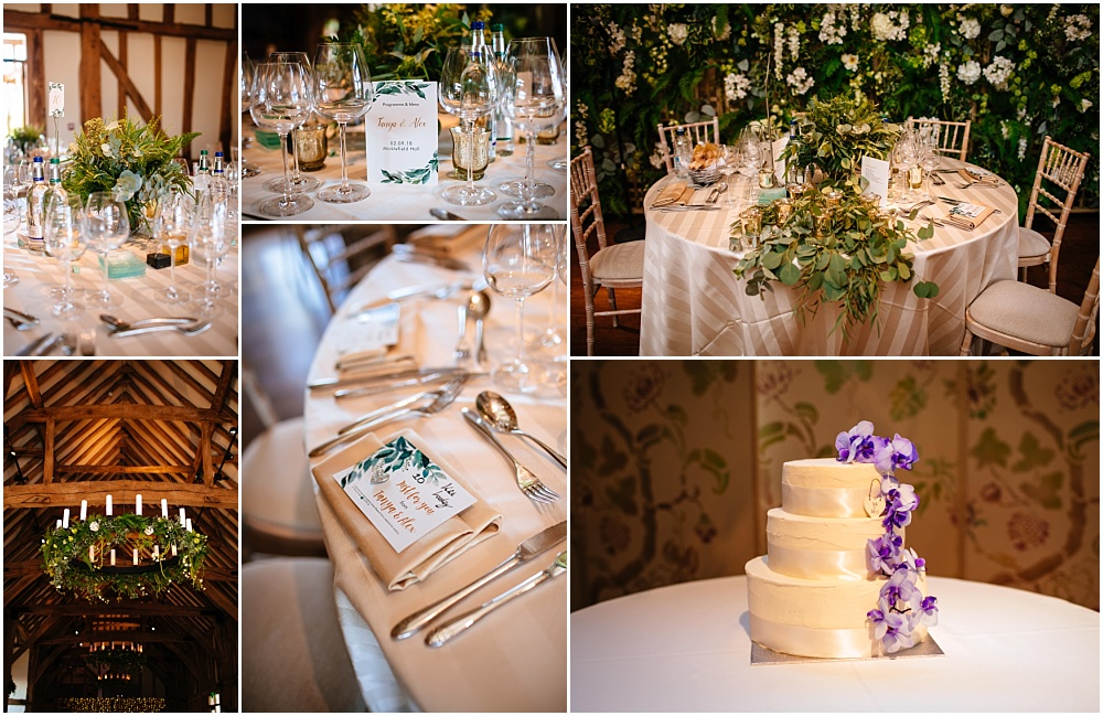 Wedding breakfast details micklefield barn