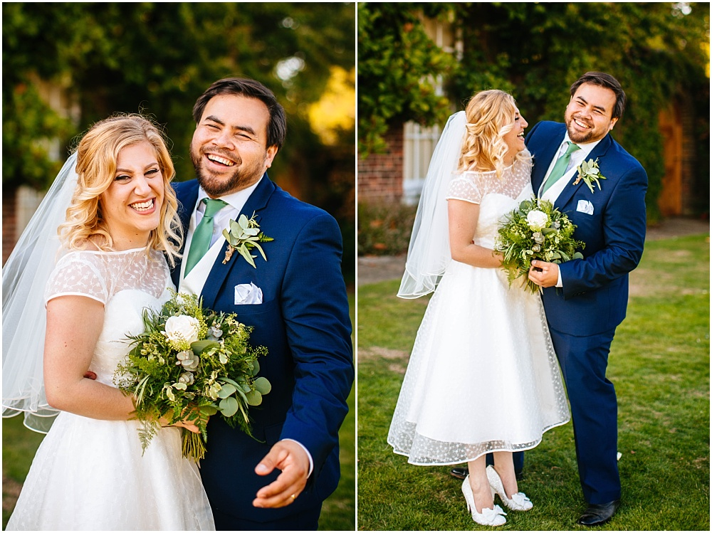 Bride and groom micklefield hall portraits