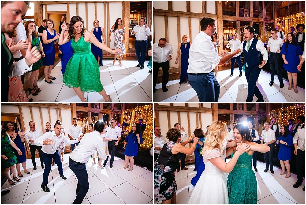Dancing at jewish wedding at micklefield hall