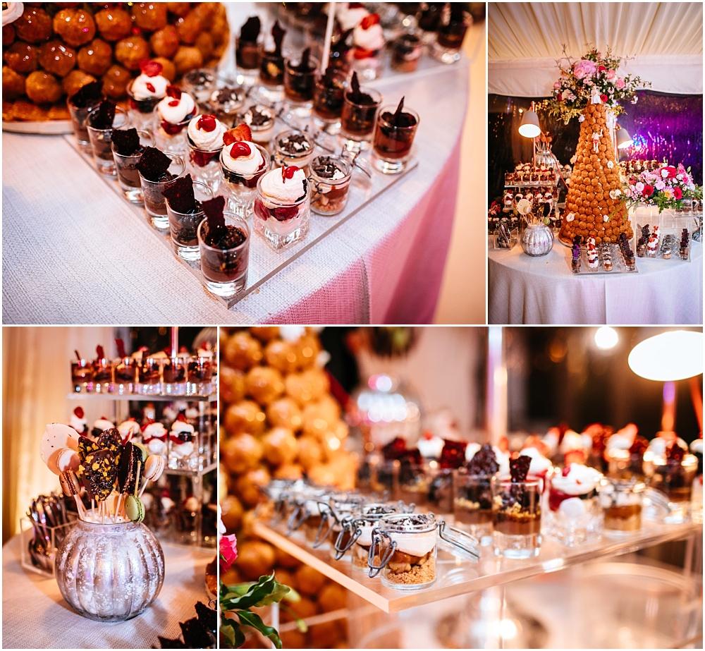 kalm kitchen wedding patisserie table