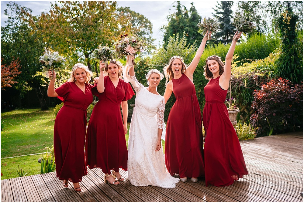 fun bridesmaid photographs before the wedding