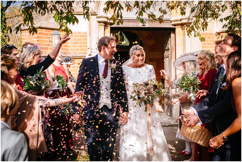 confetti at sunningdale church