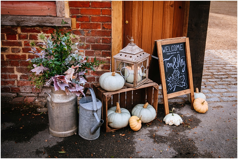 pumpkin themed october wedding