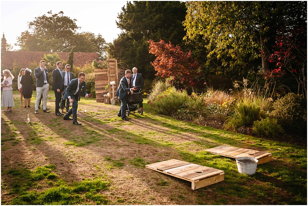 garden games in october wedding