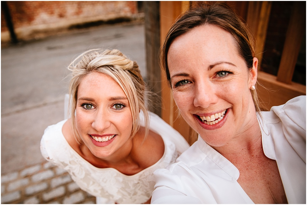 bride and wedding photogapher selfie
