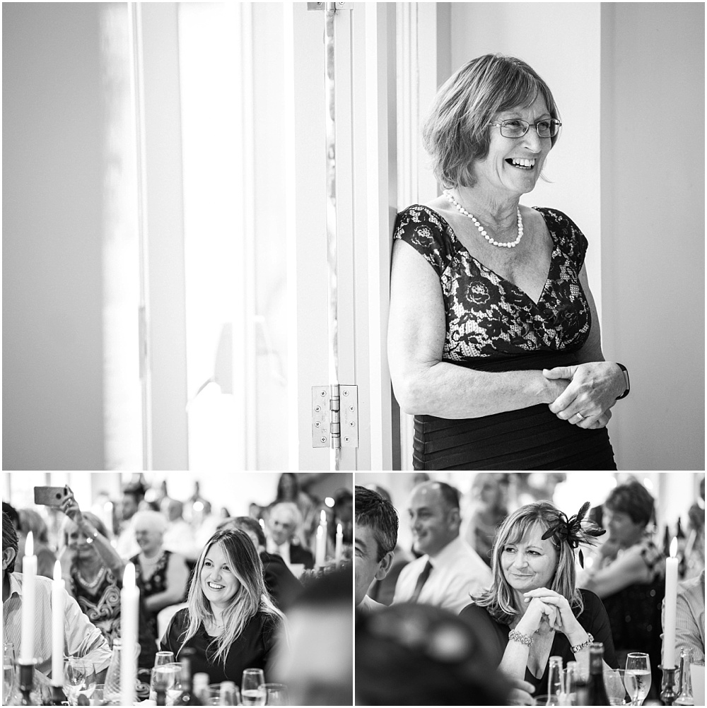 candid black and white wedding photogaphs