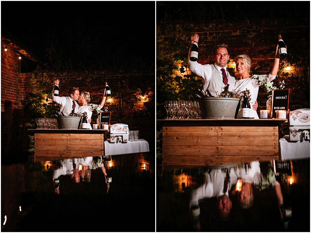nightime fun wedding photography