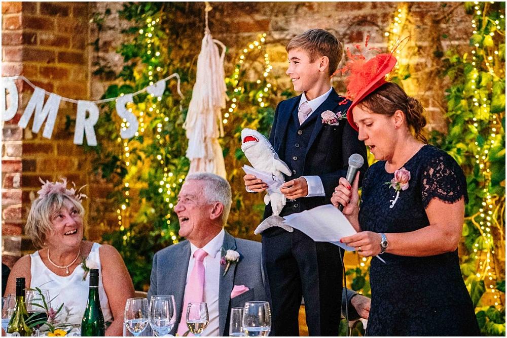 child best man does speech at wedding