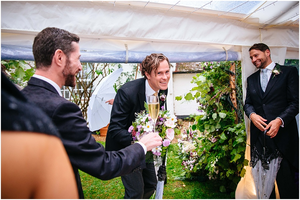 arrival of groom