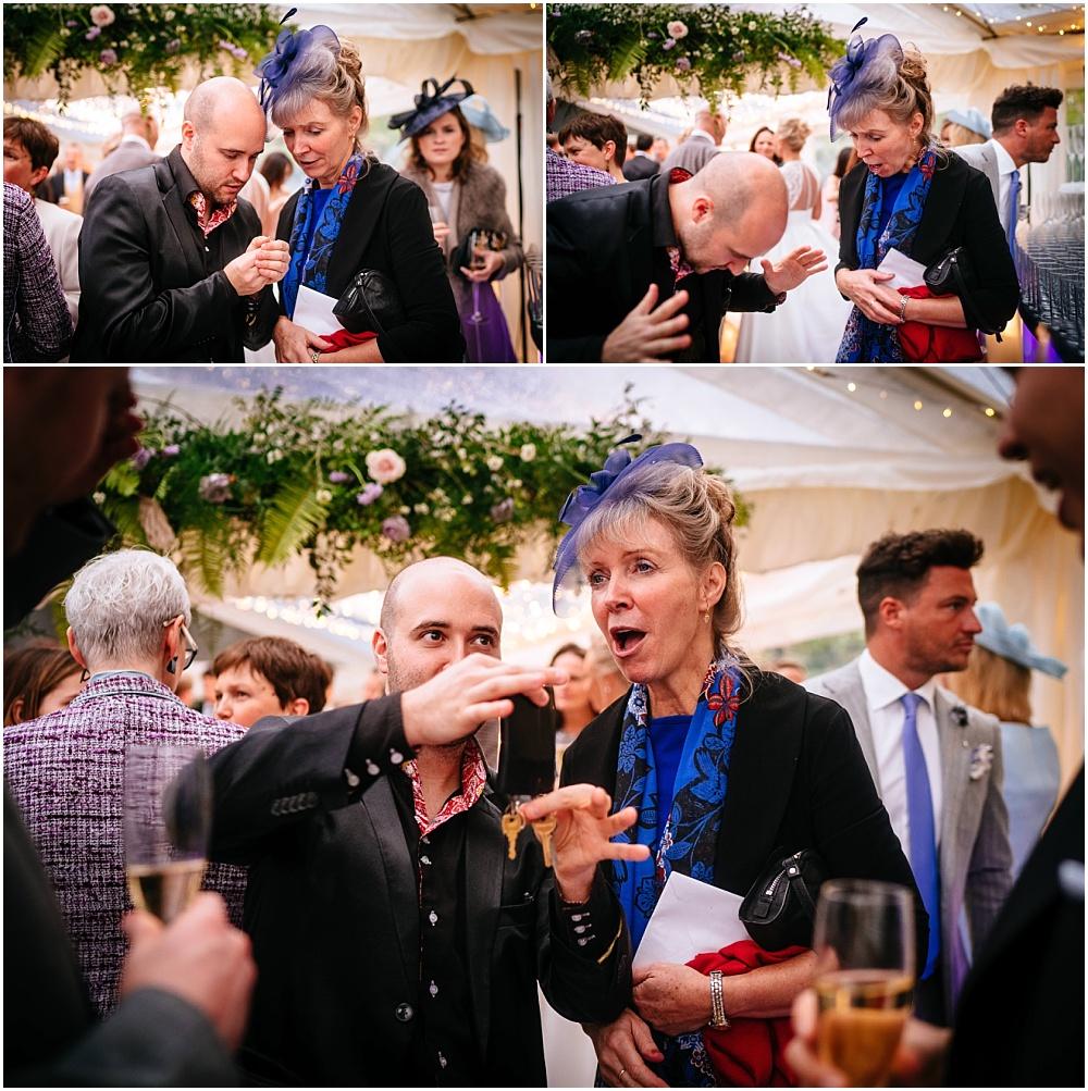 magic reaction at wedding