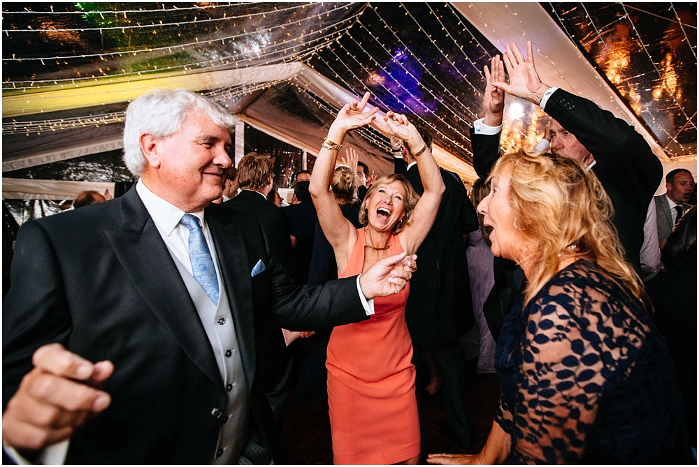 lively dancing at wedding