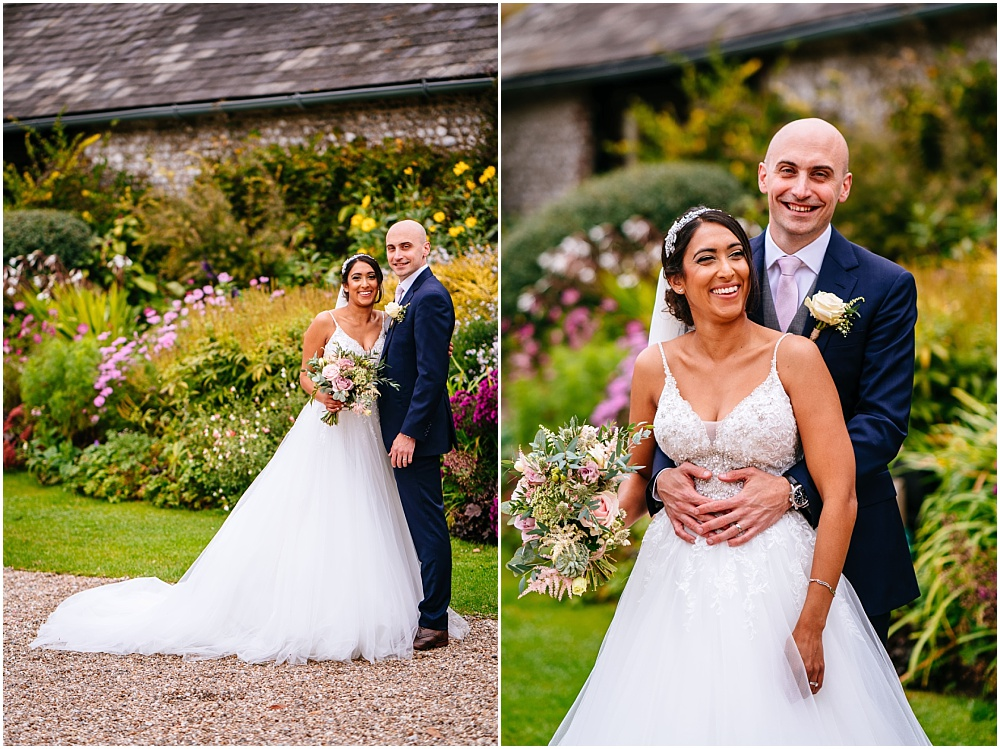 Wedding portraits at upwaltham barns