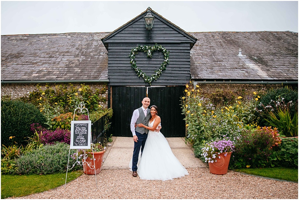 Upwaltham barns wedding speech with heart