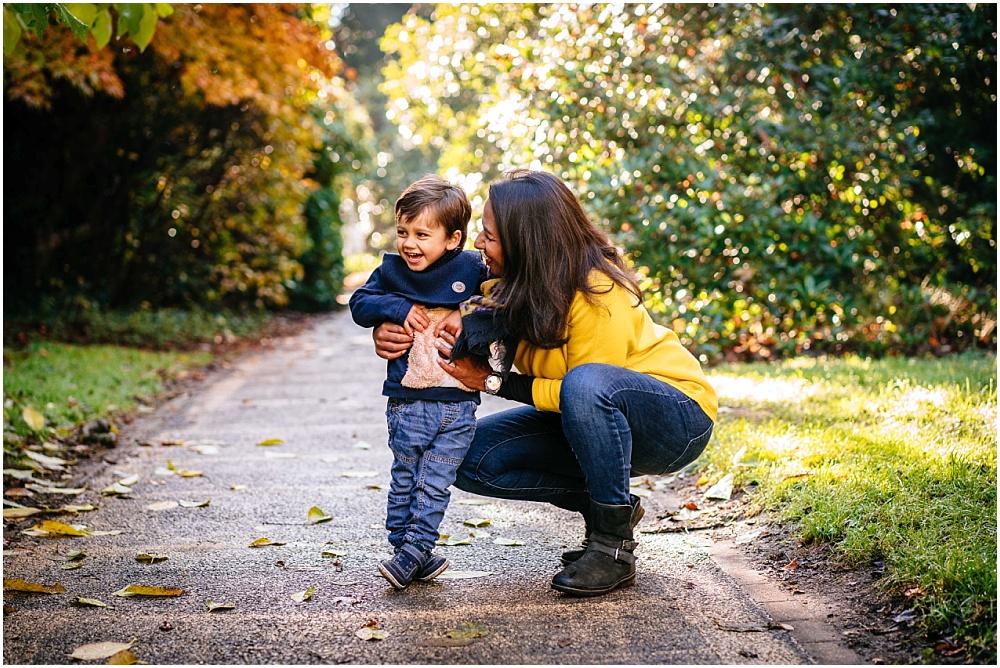 mum and son in cannizaro park
