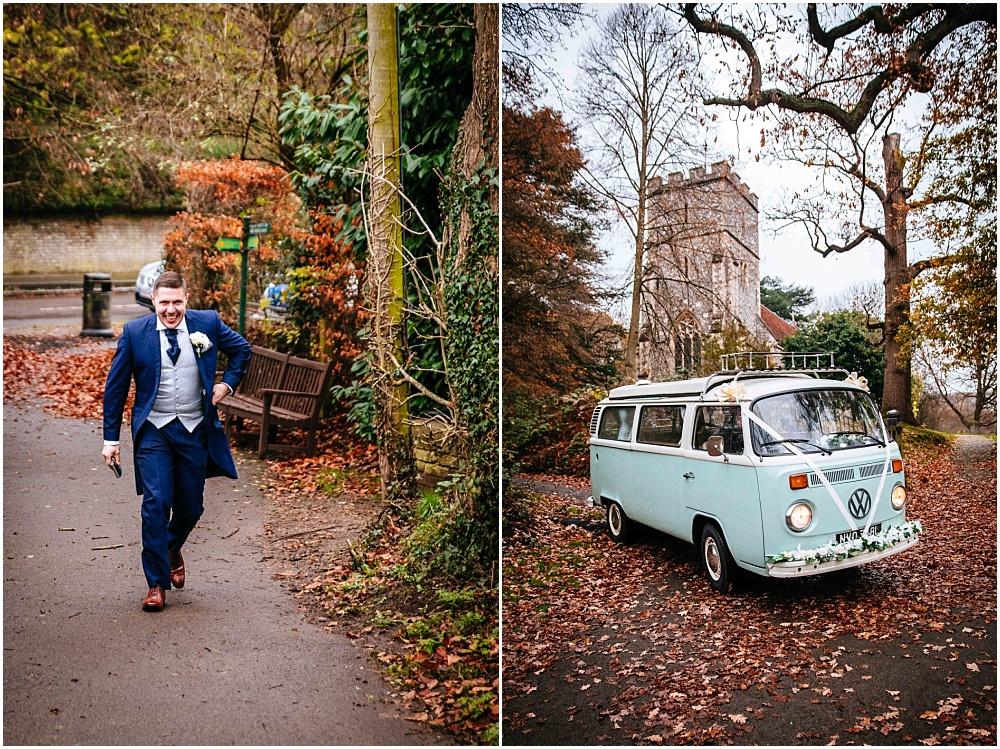 vw camper van for wedding car