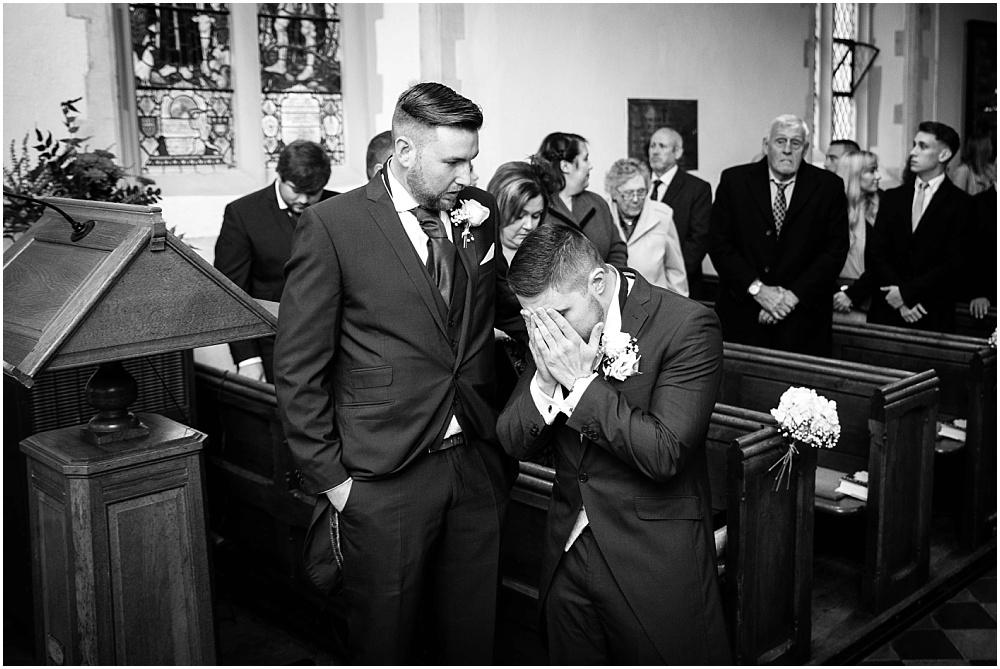 nervous groom before wedding