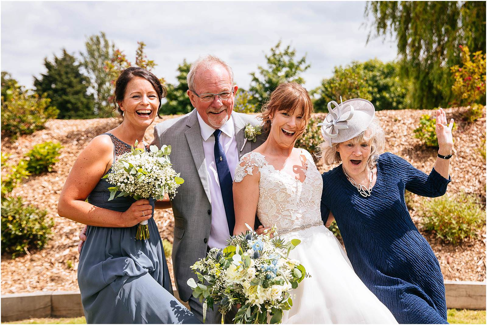relaxed group photographs during essex wedding