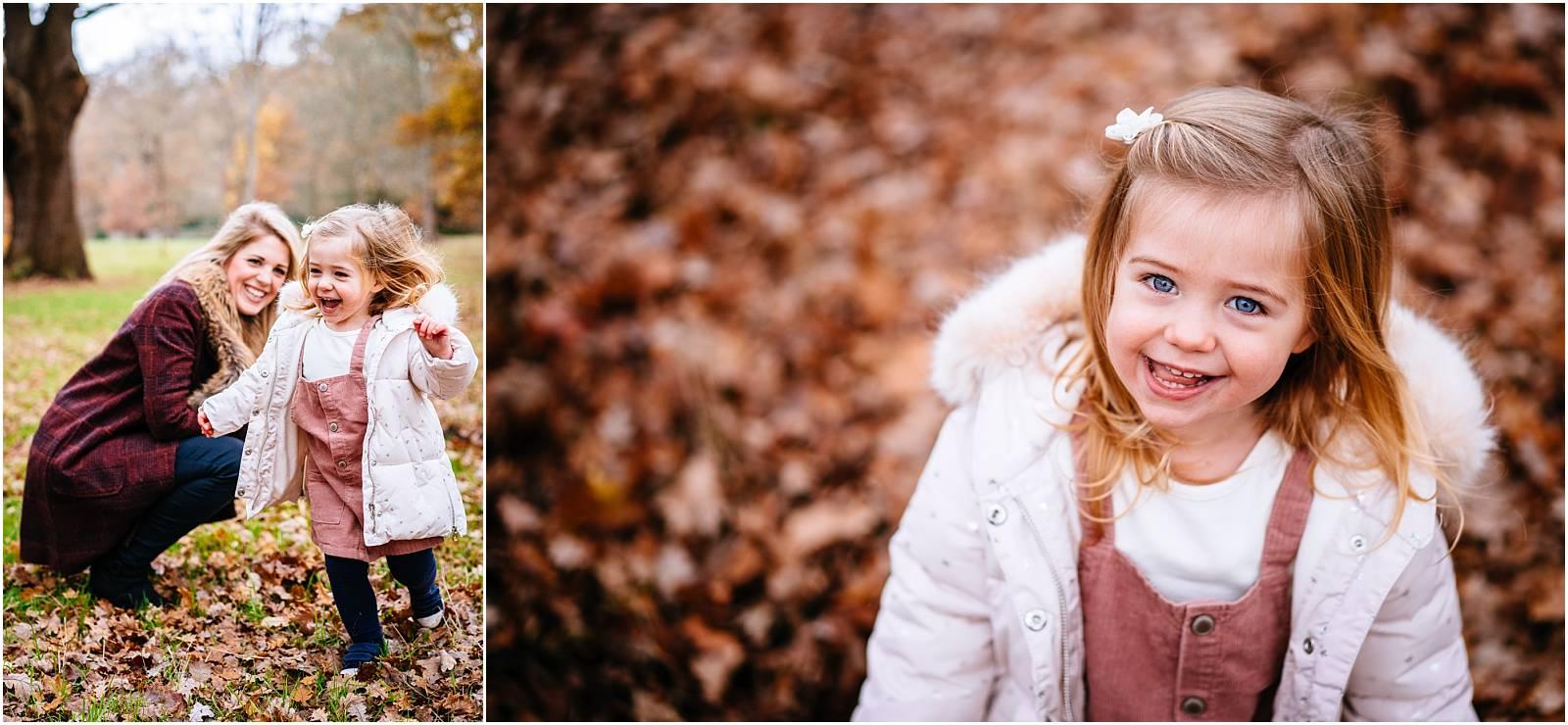 Smiling girl in autumnal windsor park