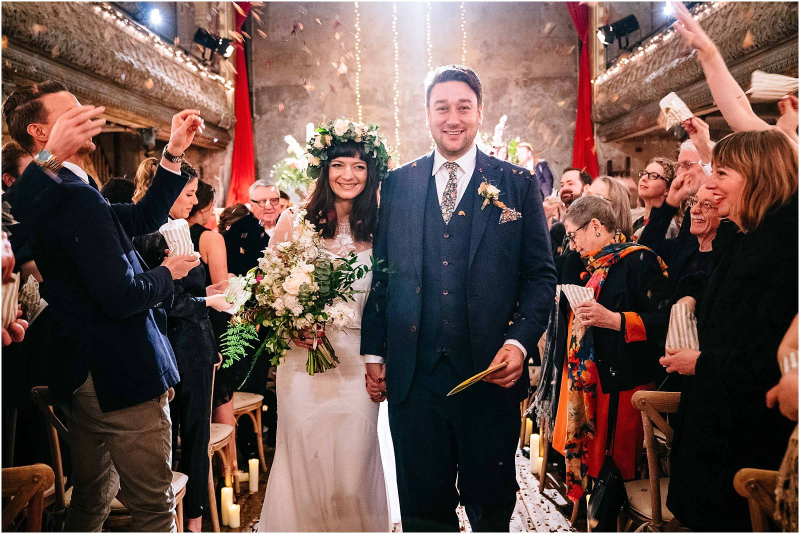 Wilton's Music Hall Wedding Photography – Bella & Stephen's Winter Wedding