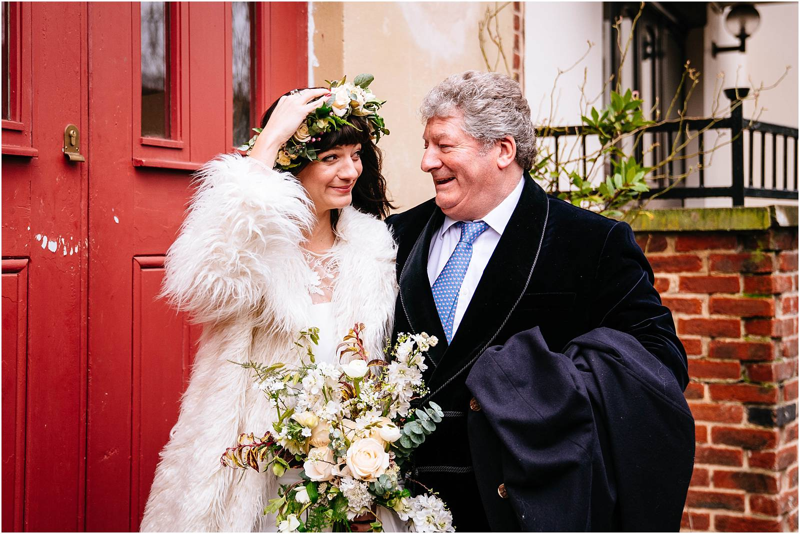 windy february wedding