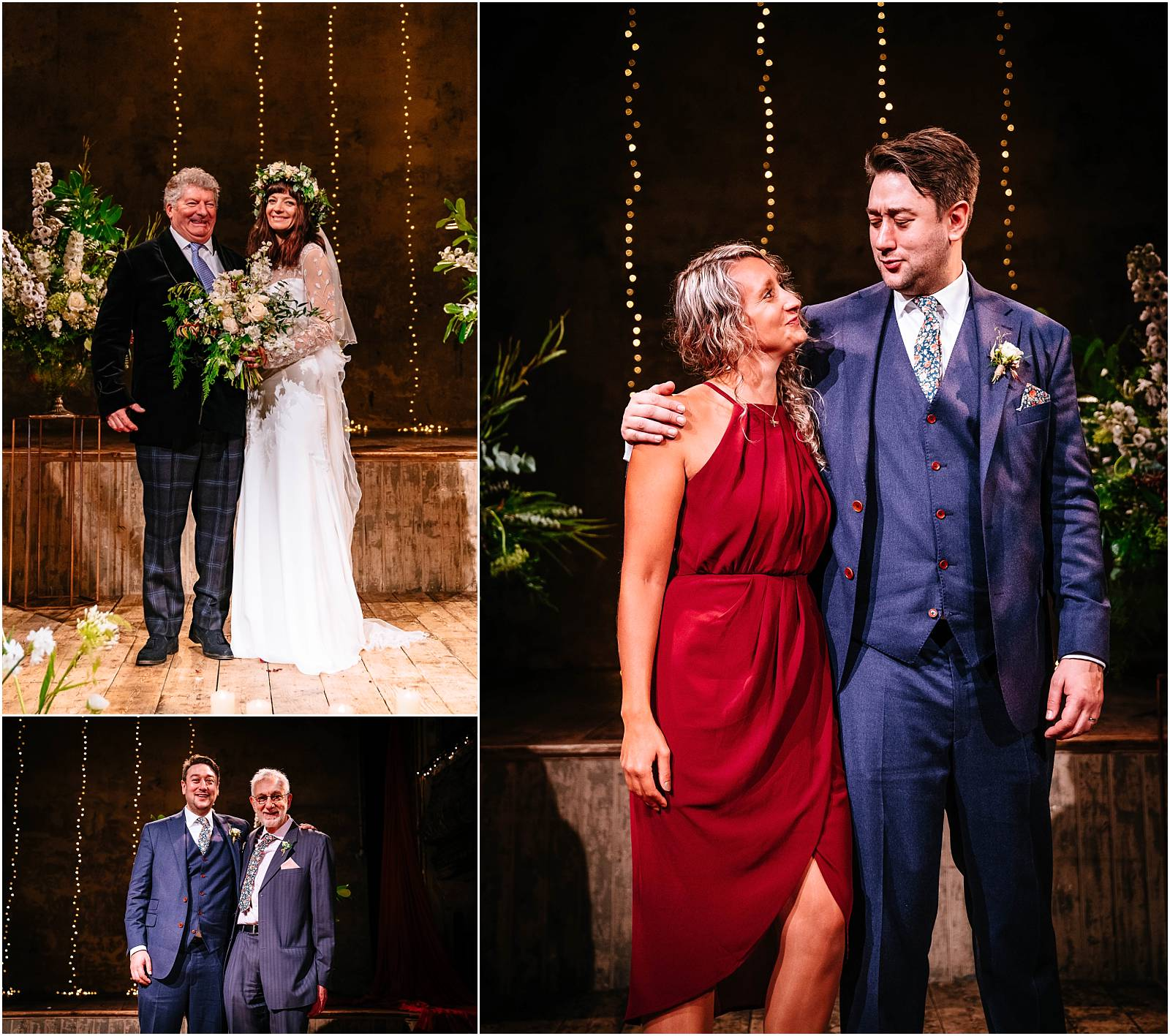 family photos inside on wiltons stage
