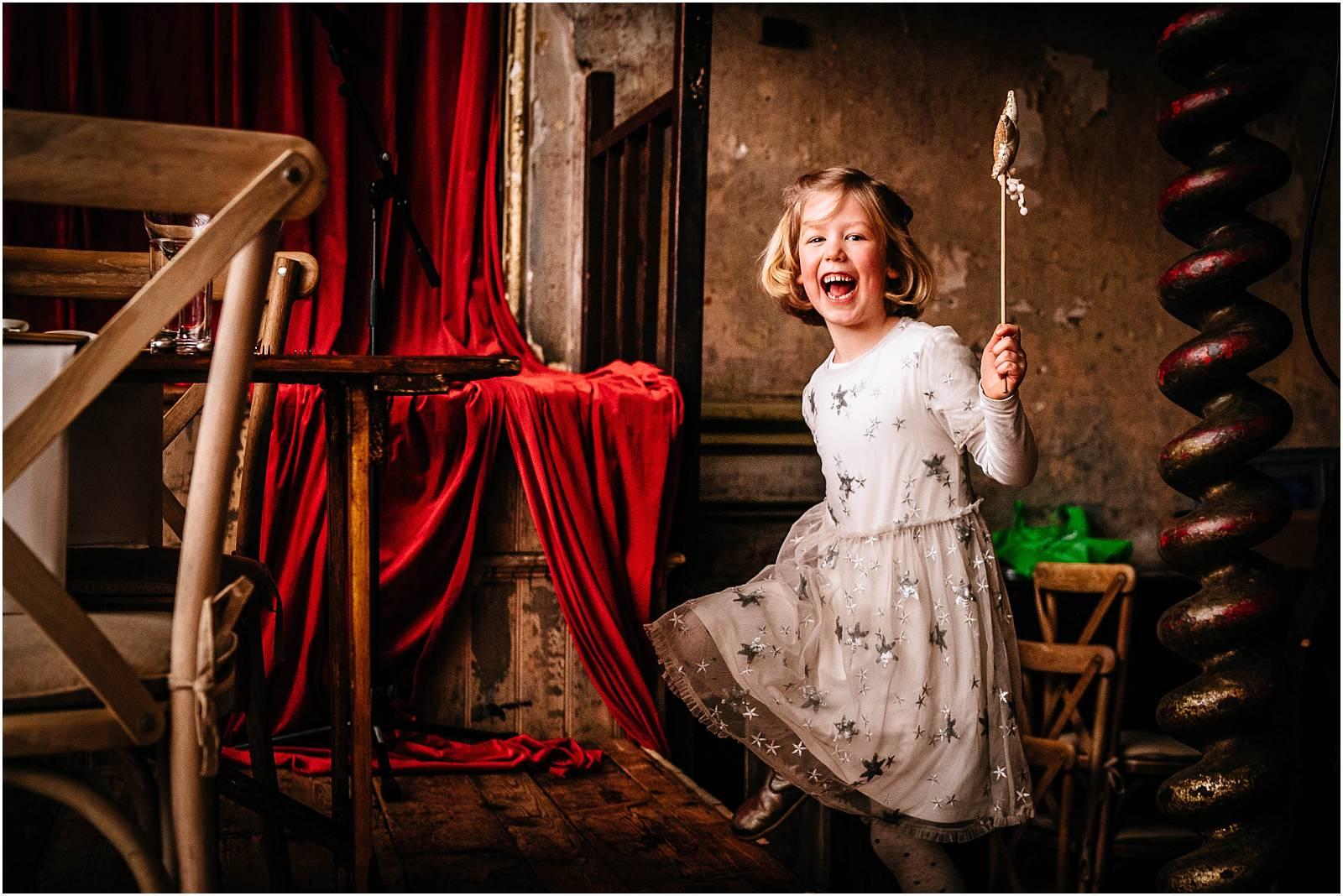 laughing daughter