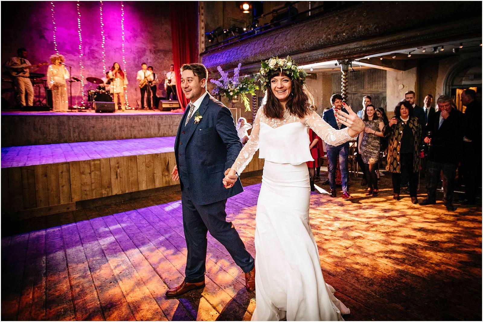 stunning bride with flower crown