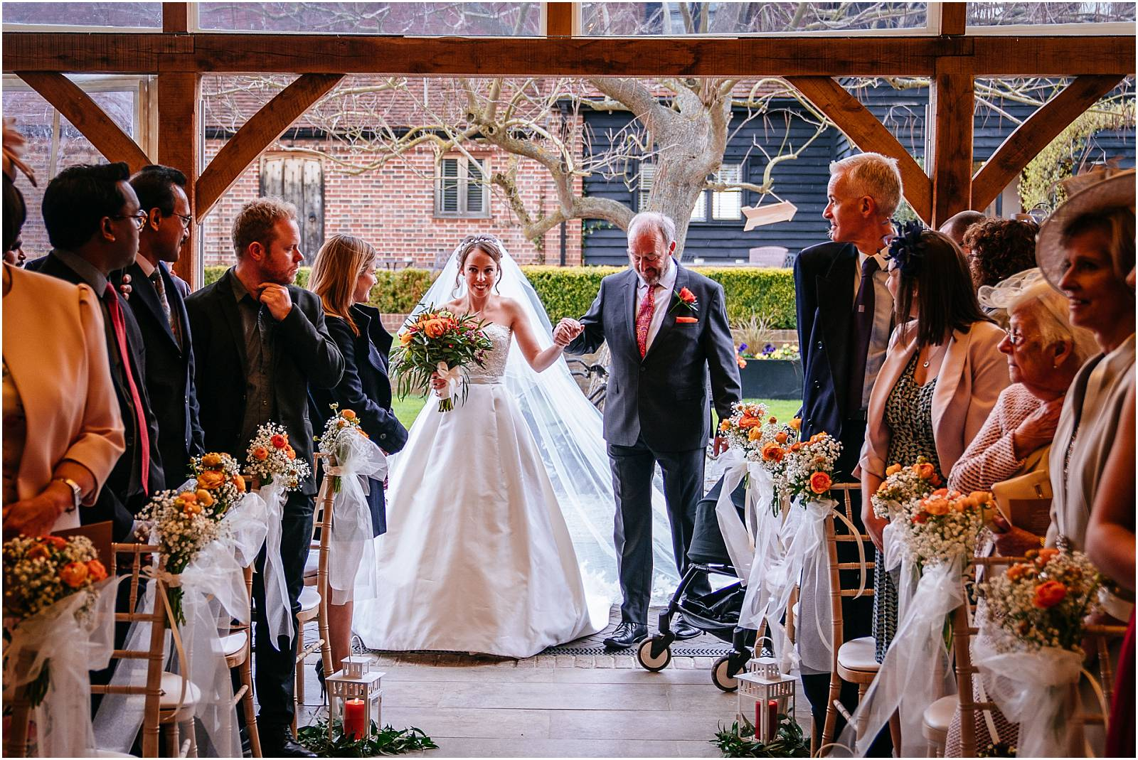 walking down the aisle at coltsfoot