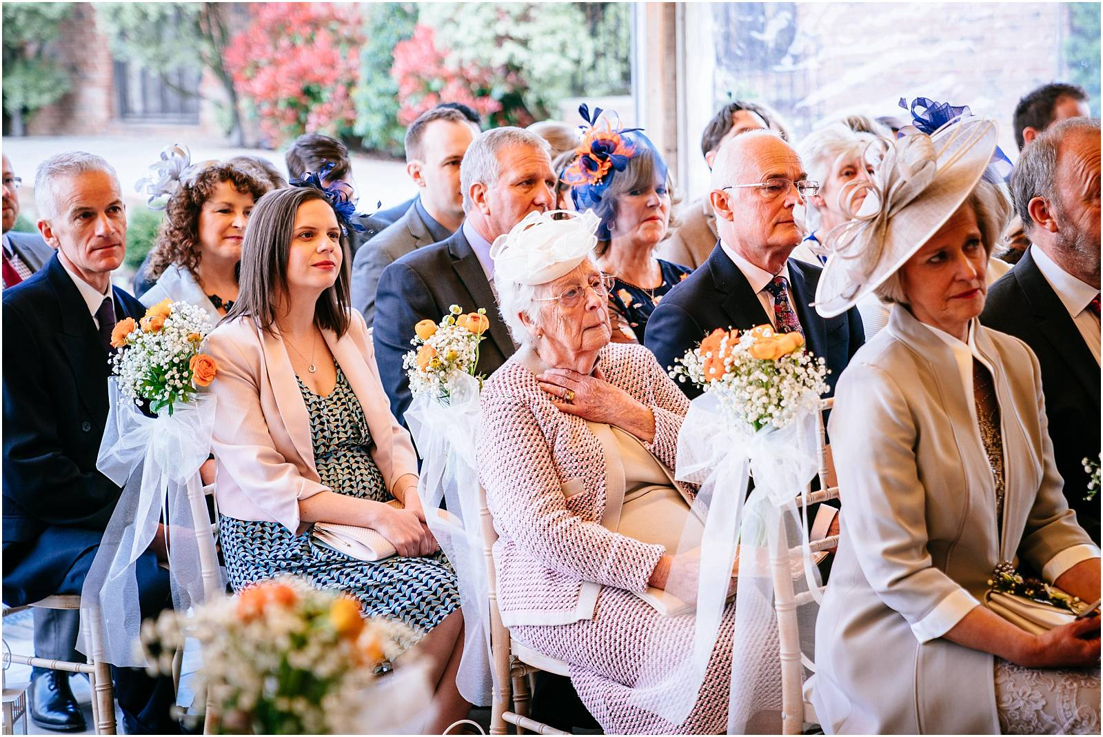 grandma watches touching wedding