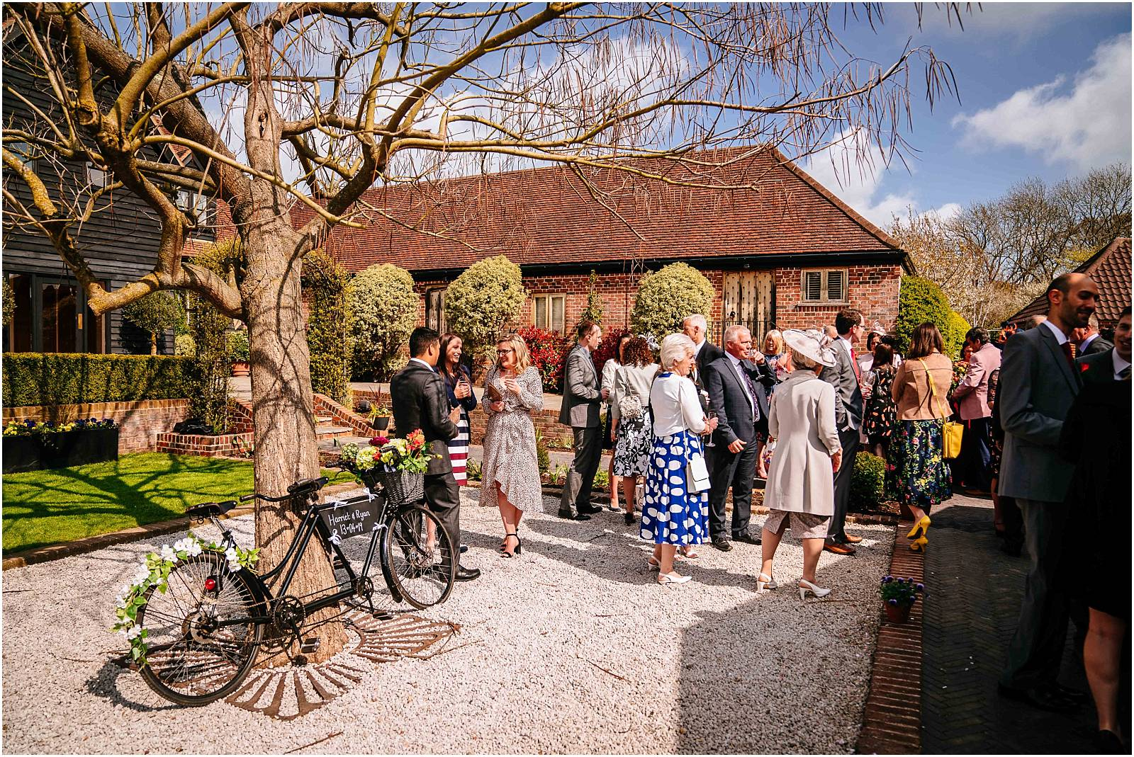 sunny wedding reception in hertfordshire