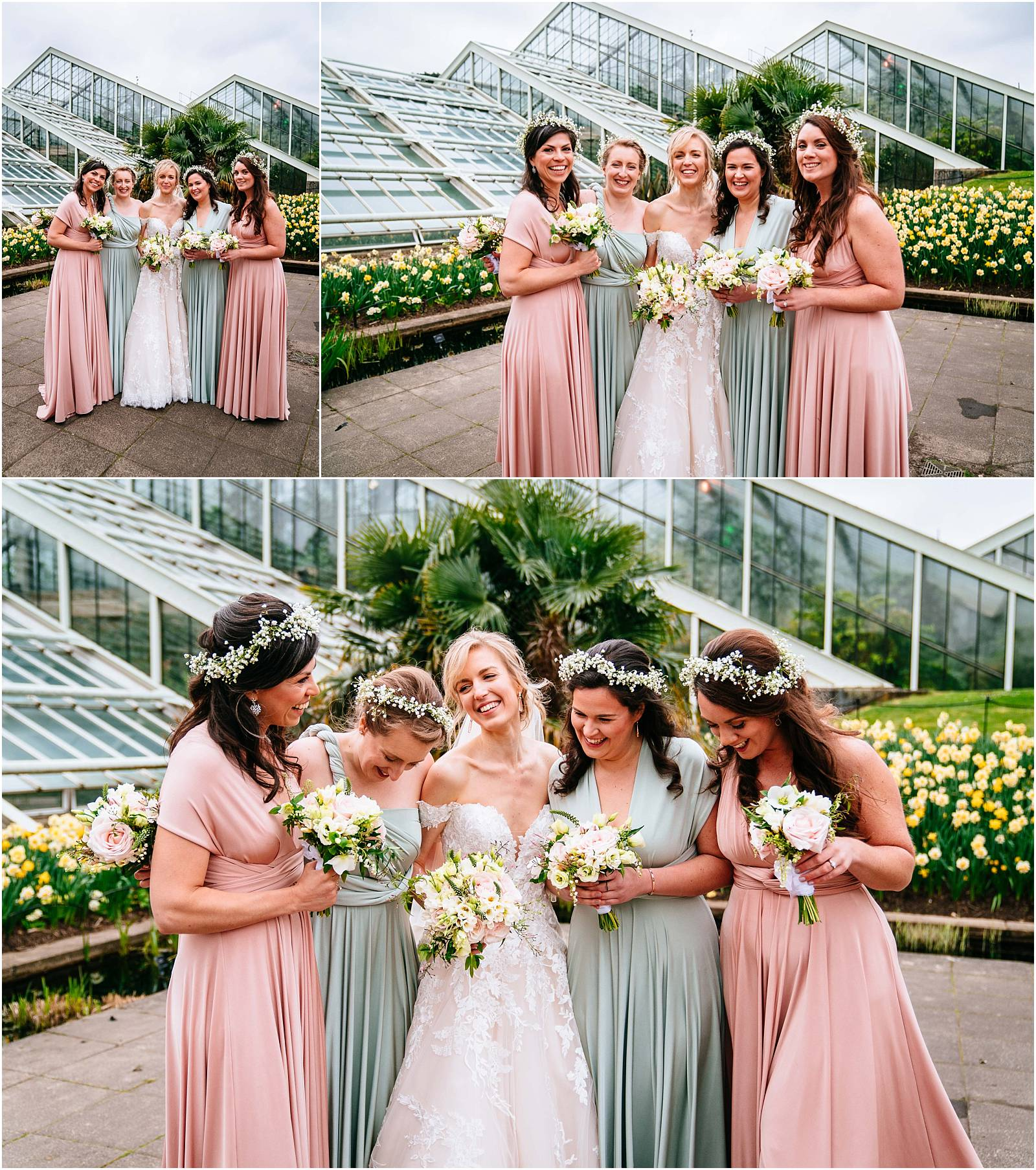 Bridesmaids photographs at kew garden