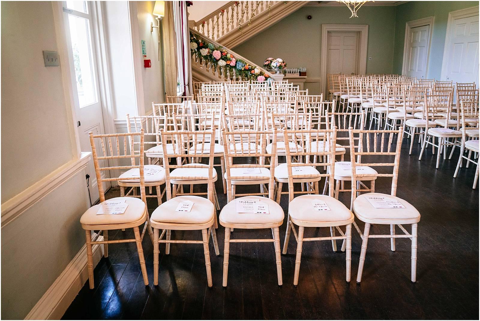 morden hall wedding ceremony room