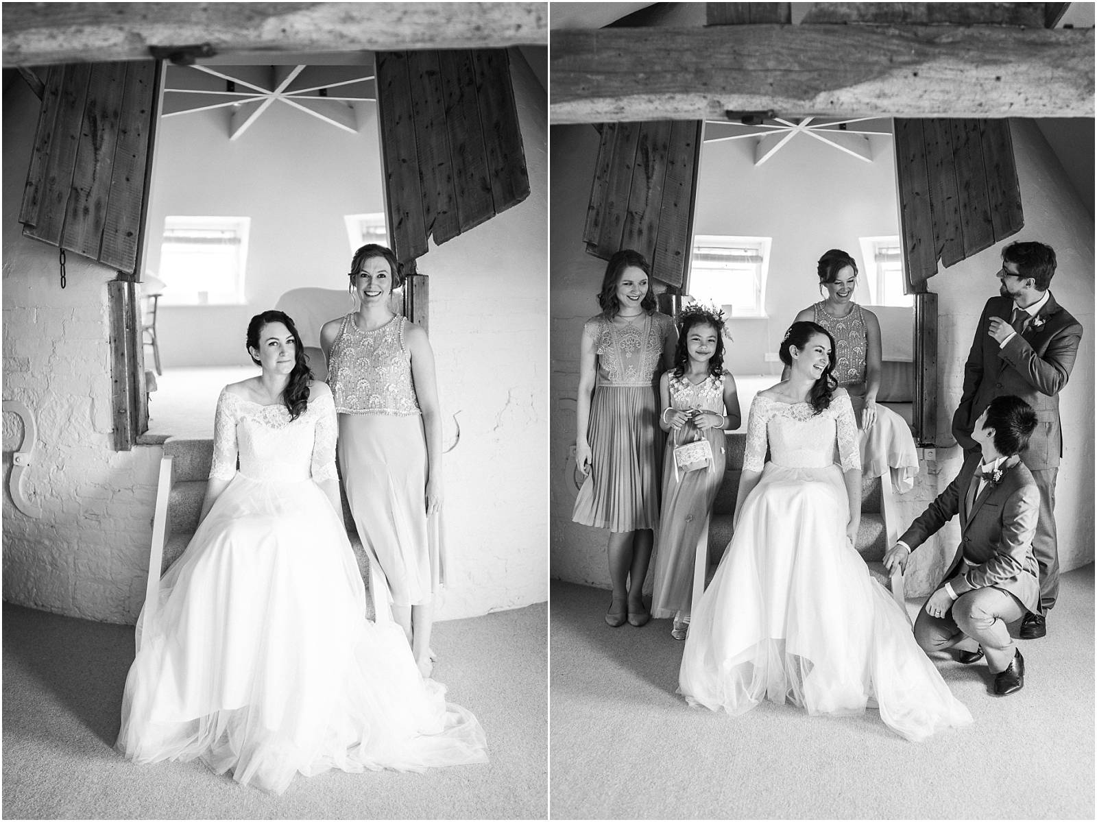 bridal party in bridal suite pre wedding