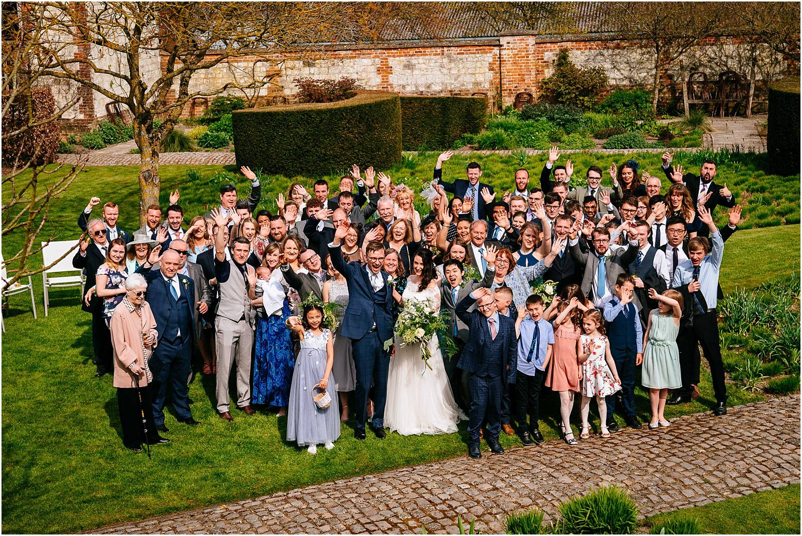 everyone at wedding at bury court