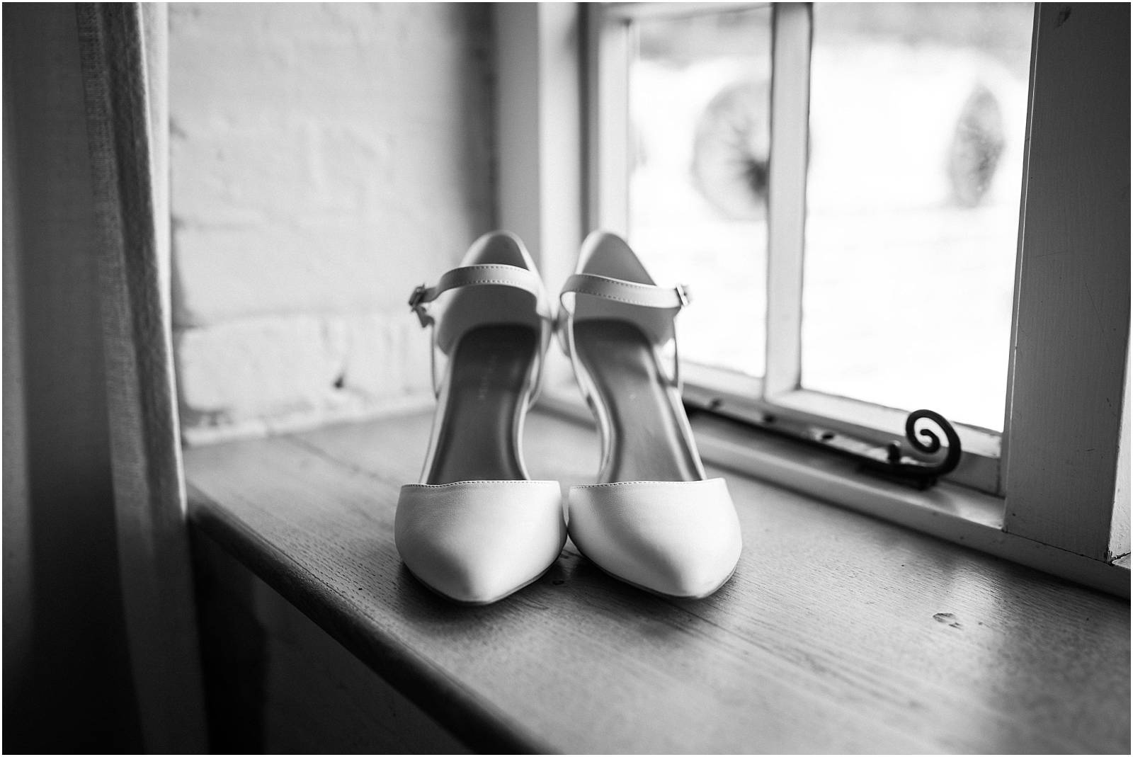 wedding shoes in window