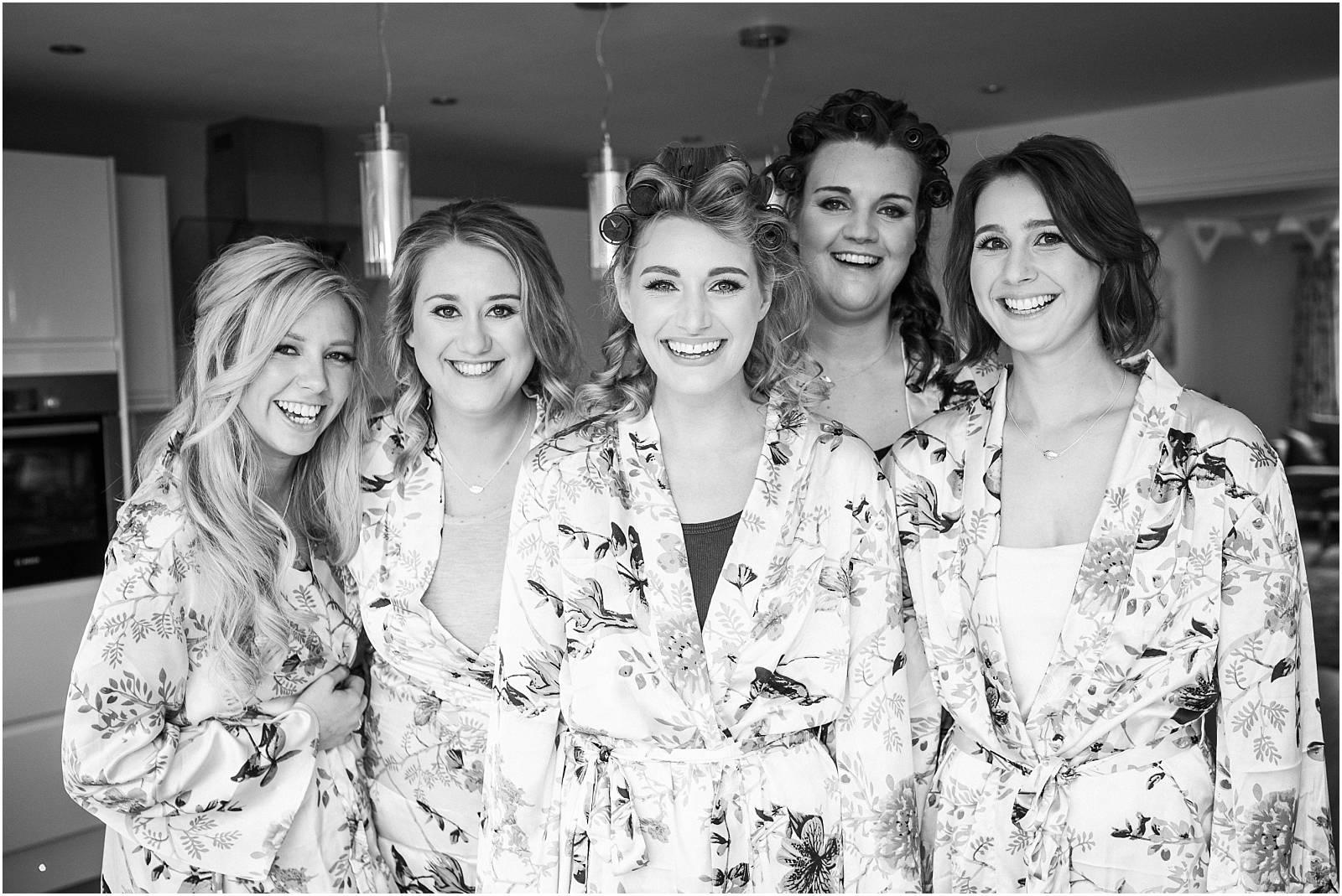 gorgeous bridesmaids black and white