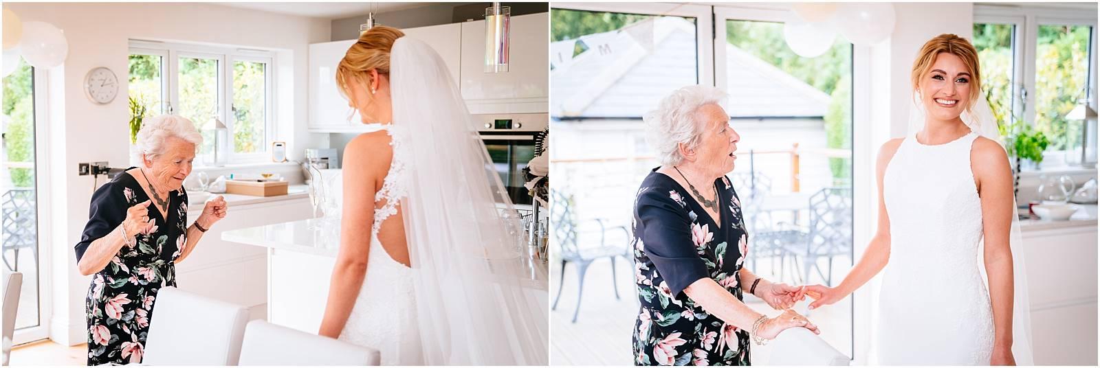 grandma wowed by bride