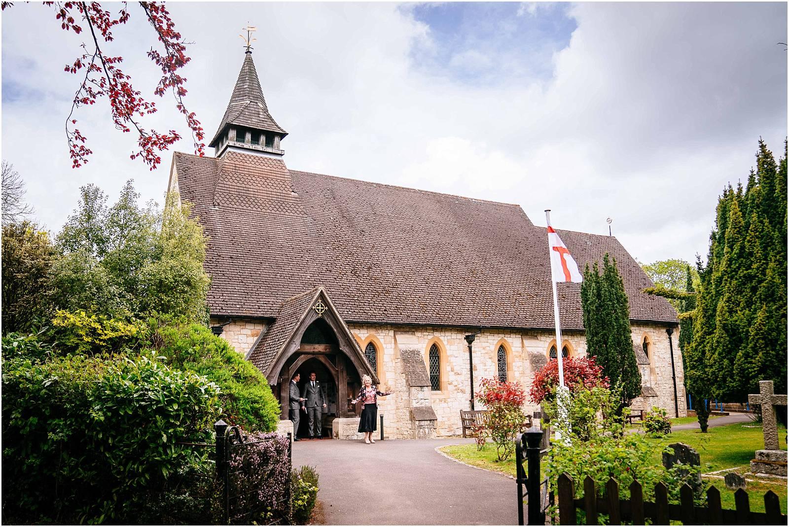 surrey wedding church near farnham