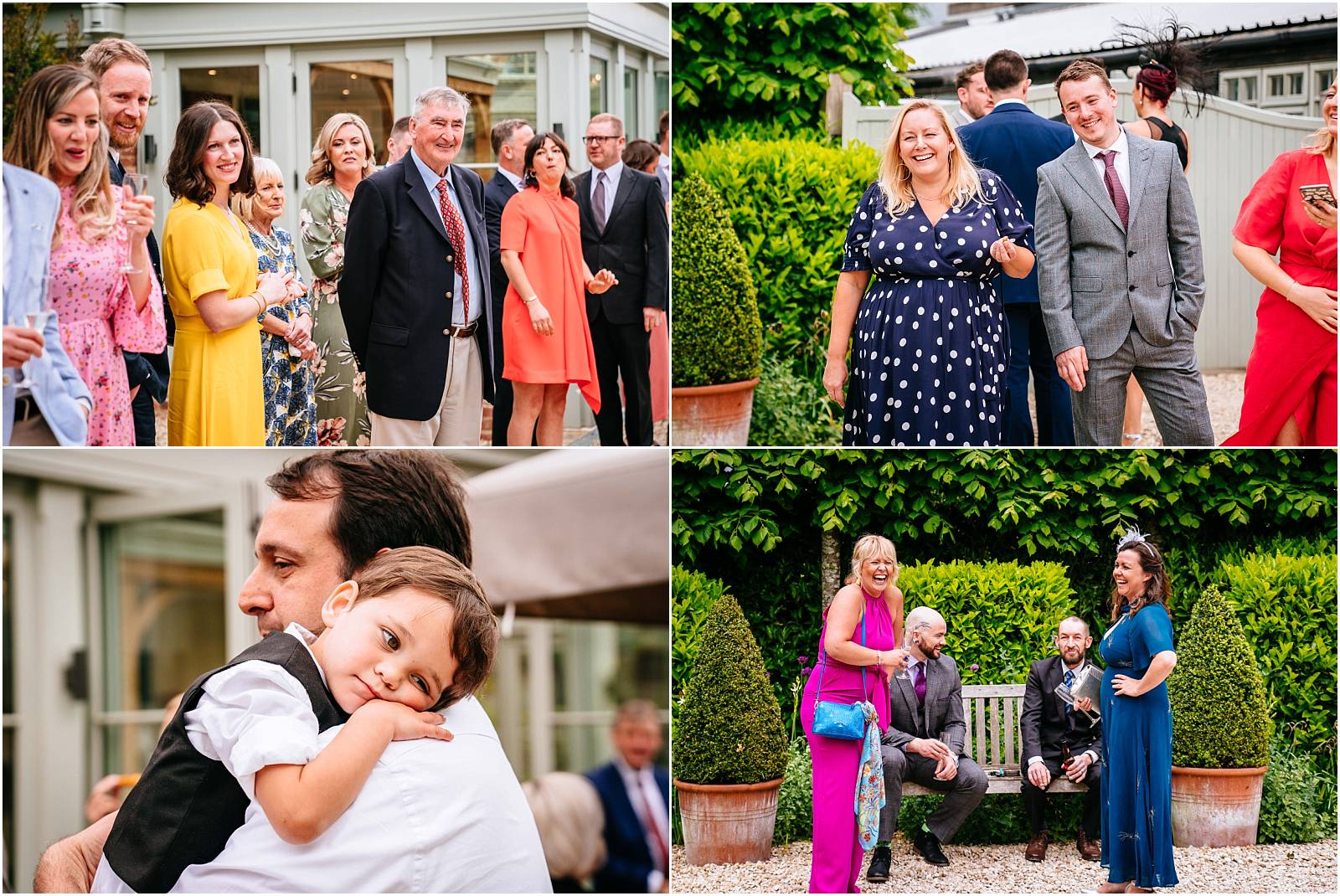 happy guests at gate street wedding