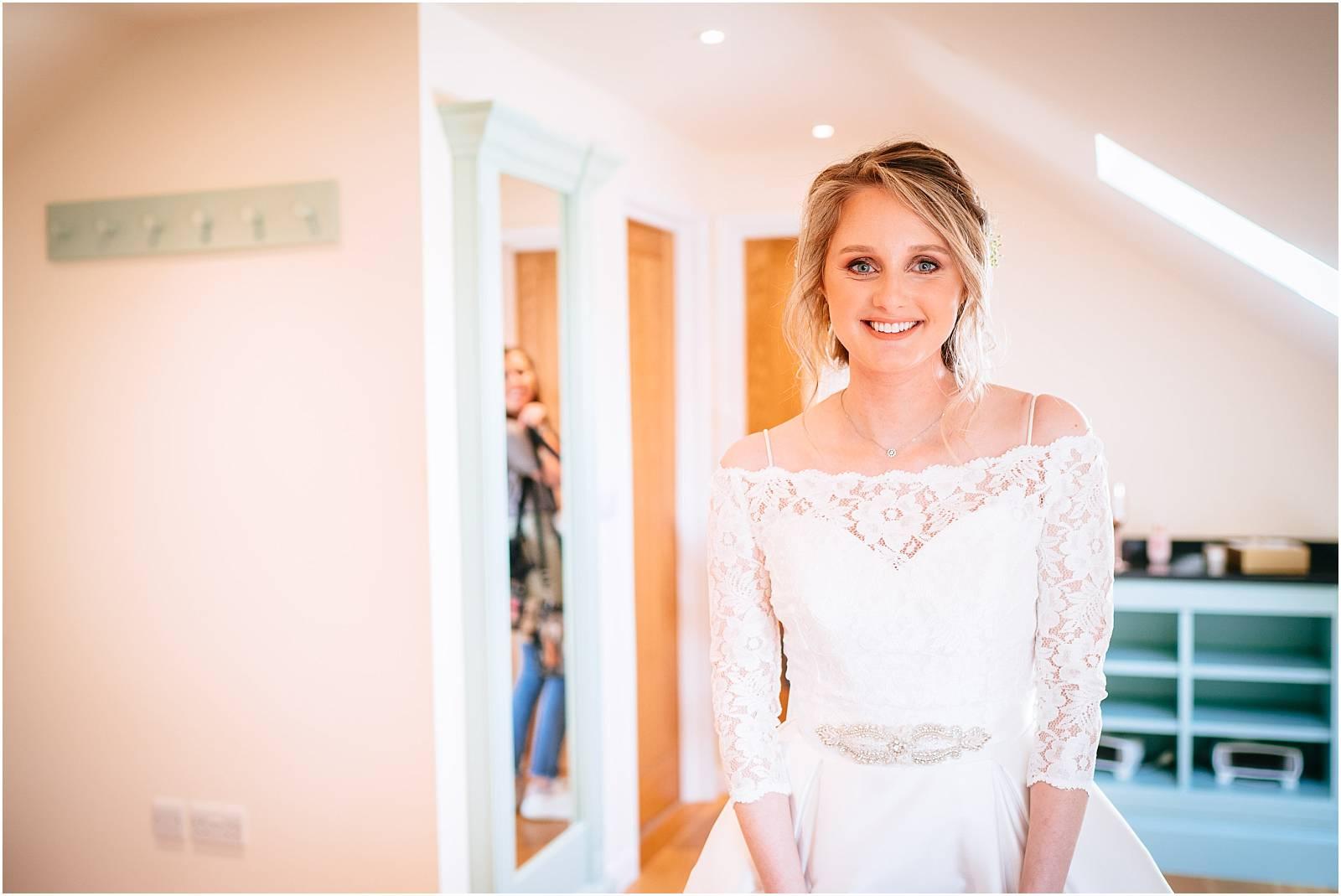 Bridal prep in bridal suite