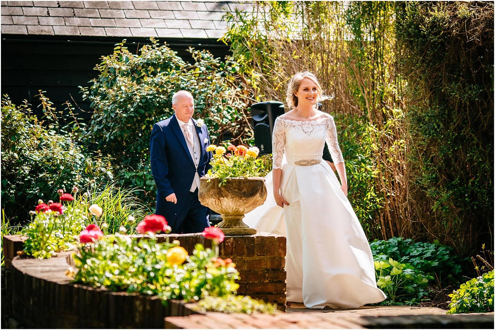 outside wedding near london
