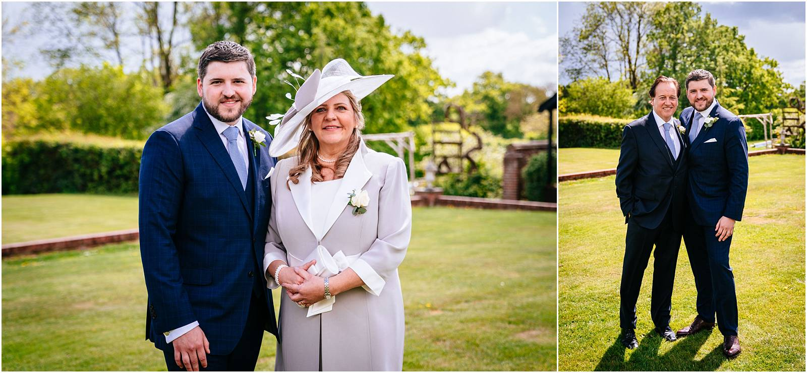 family photos at micklefield hall wedding