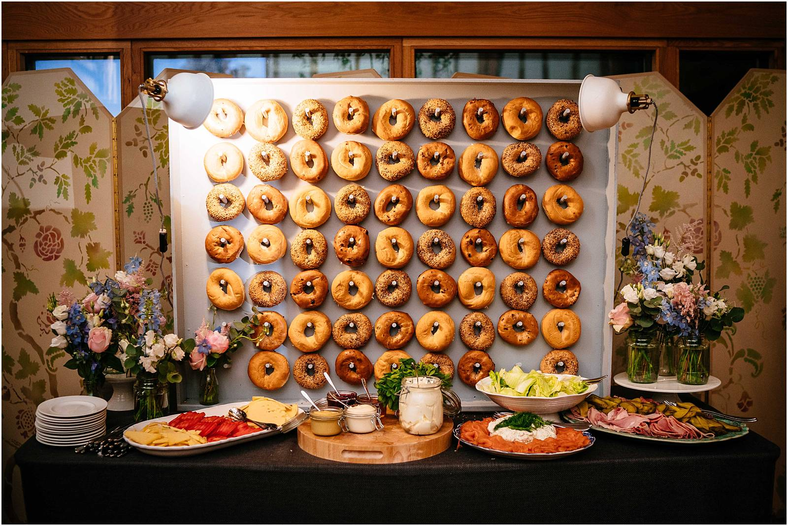 kalm kitchen bagel wall