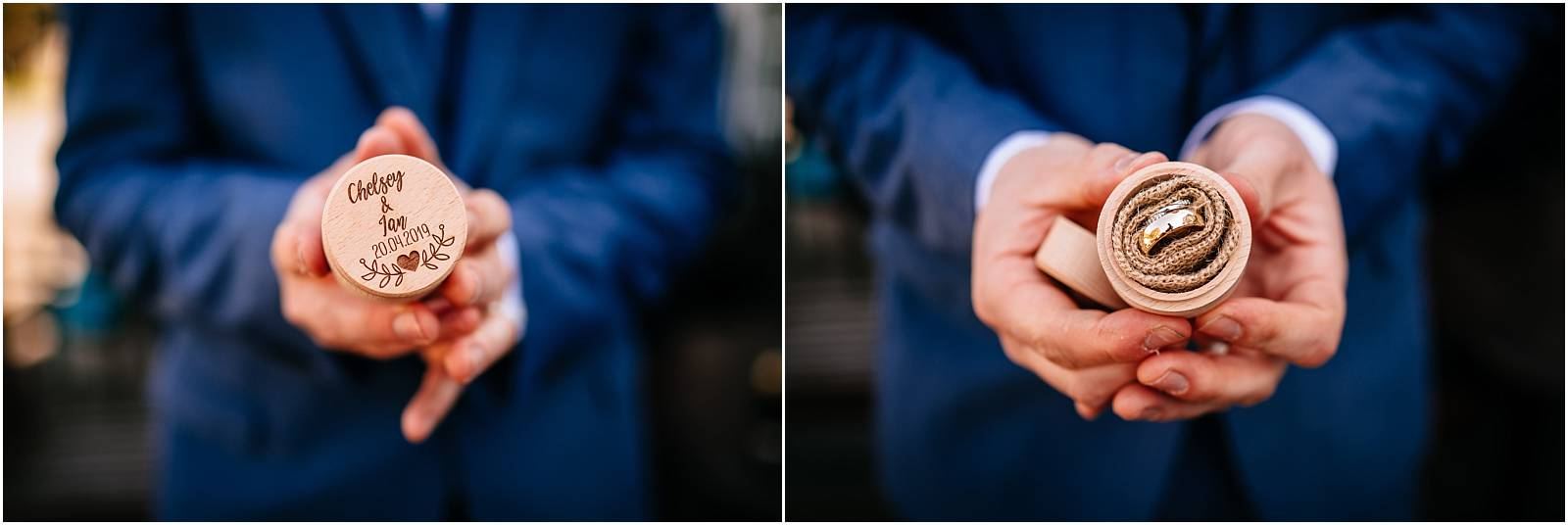 best man holding wedding rings