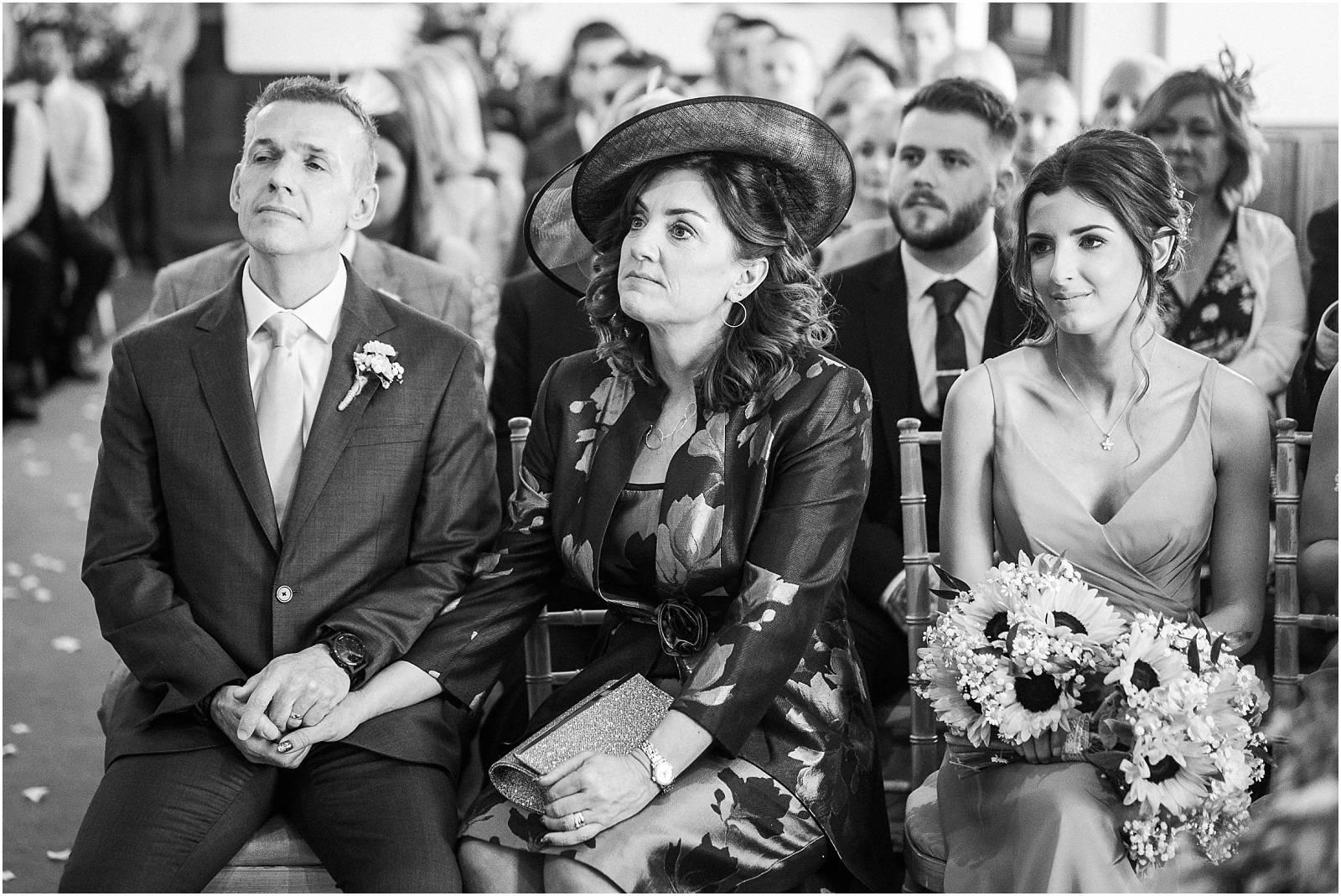 watching the wedding cermony