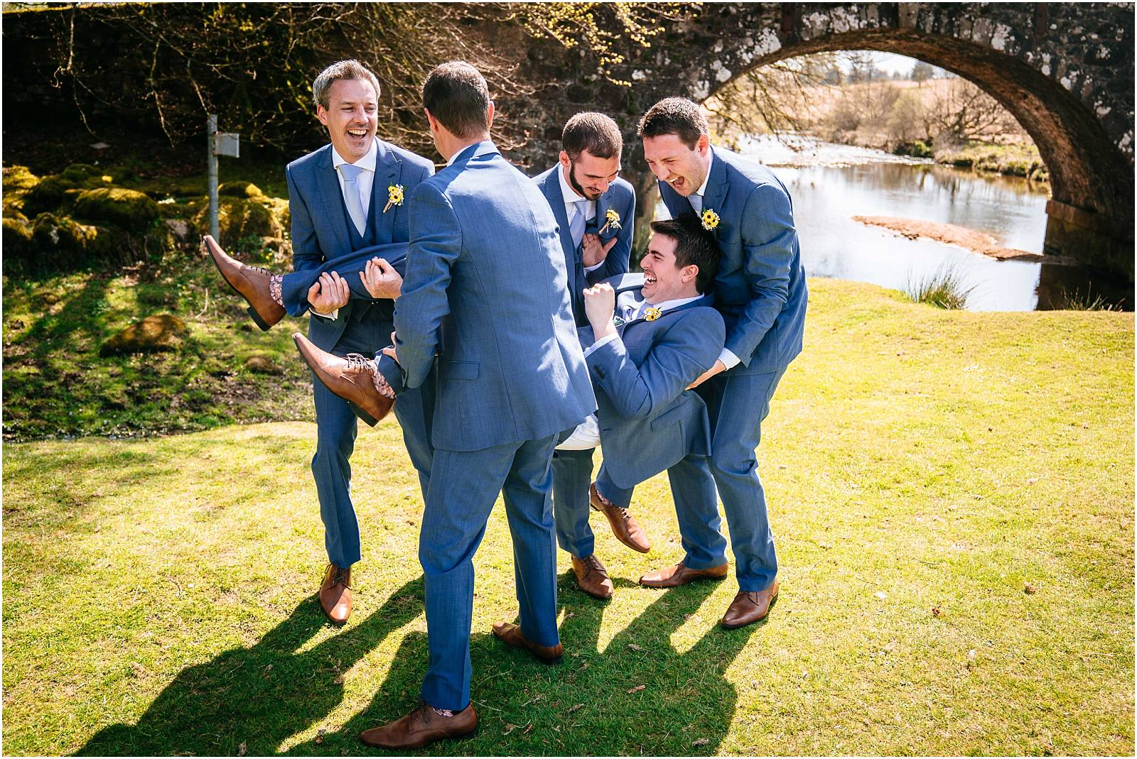 unsuccessfully lifting the groom
