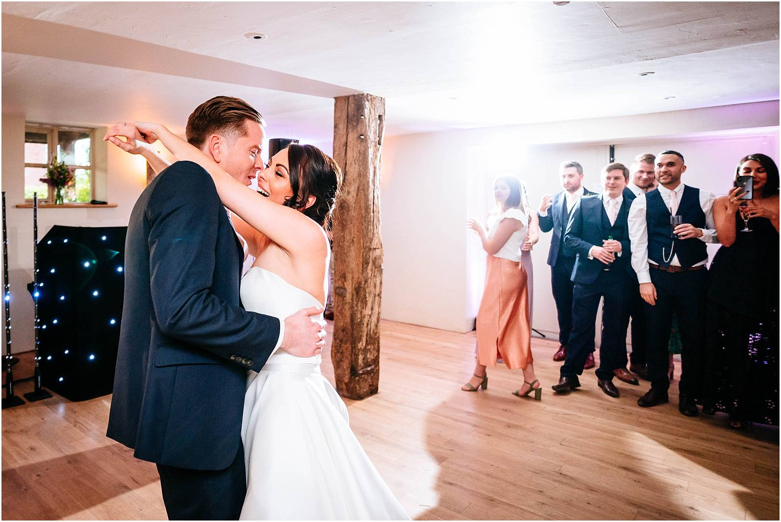 first dance at wedding at bury court barn