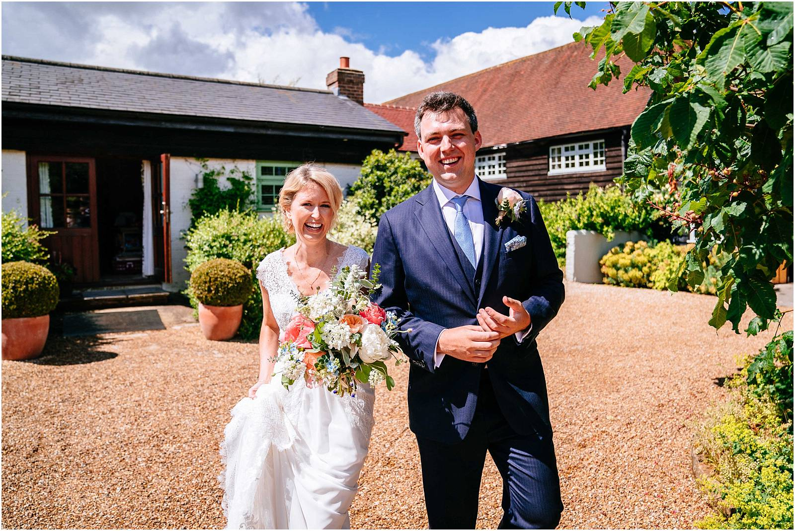 bride and groom surrey wedding photographer